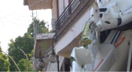 Πτώση αεροπλάνου πάνω σε σπίτι στην Πρώτη Σερρών