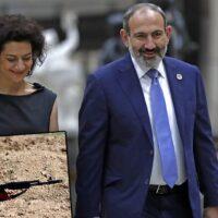 Ναγκόρνο Καραμπάχ: Στο «μέτωπο» η Πρώτη Κυρία της Αρμενίας